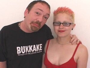 Punk Chick Fucks Glass Toy and Dirty D's Cock!