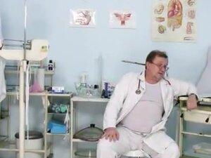 Two hot czech girls visit kinky gyno doctor,