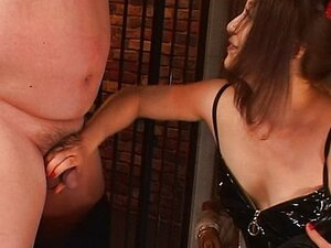 Asian cock tortured by strict mistress