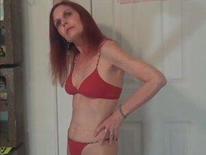 Redhot Redhead Show (red bikini photoshoot)