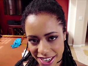 Ebony Kira Noir likes sucks big dick