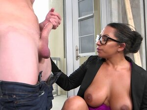 Chunky woman with amazing big tits gets