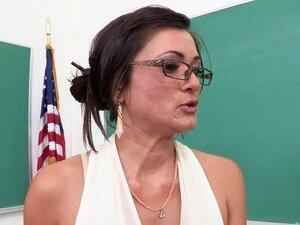 Pretty Teacher With A Great Body Enjoying A