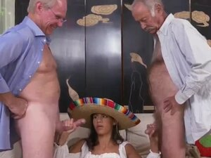 Old man fuck young girl sauna and swallow first