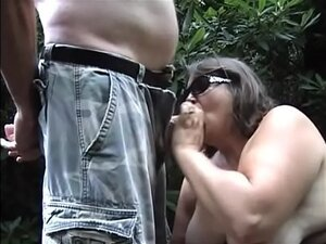 Laura sucking cock at the park