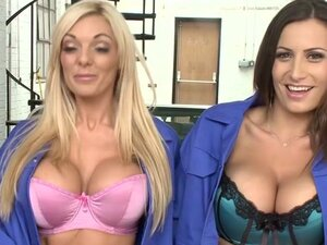 Horny pornstars Tiffany James and Natasha Marley