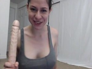 Mouth action on a 12 inch Dildo, Imagine this