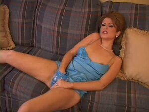 Pleasure in satin blue panty & nighties dress
