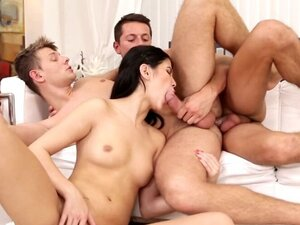 Asian beauty and two bisexual beasts
