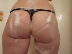 Big white booty soap in the shower, A beautiful