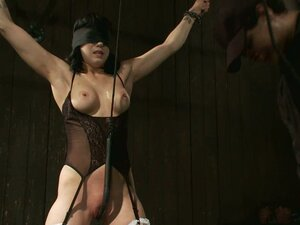 Toying Action in Extreme Bondage Video for