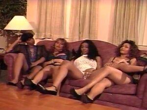 Huge Tittied  Ebony Girls Have a Group sex,