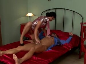 Spex domina taunts cbt fetish cock