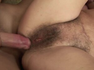 Hairy mature granny pussy plowed and cant get