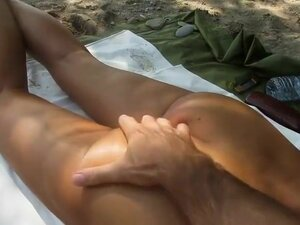 Nudist has fun with wife's hot nude ass, Looks