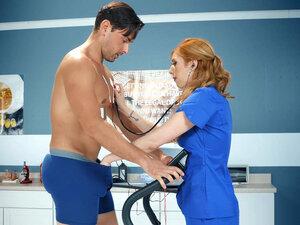 Doctor Lauren Phillips is testing Ryan Driller -
