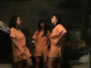 Awesome lesbian orgy in prison, Some smoking hot