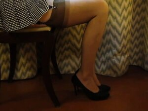 Beautiful tights and small pleated dress
