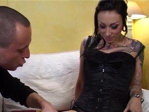 Hot corset loving extreme tattooed french babe