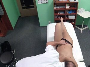 Doctor fucking medicine student in office