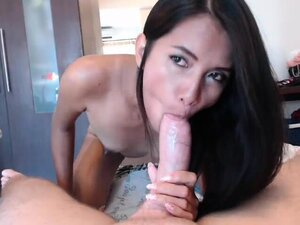Tasty Asian Coed Struggles With Big Cock