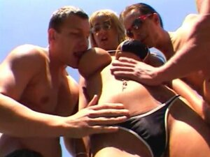 Swimming Pool Gangbang Fuck With Hot Studs And A