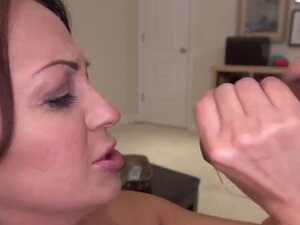 Big booty milf grinds and sucks cock