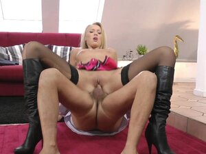 Blonde Teena Dolly being fucked with hard old dick