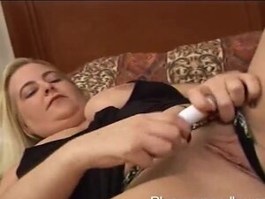 Fat blonde enjoys getting her wet pussy drilled -