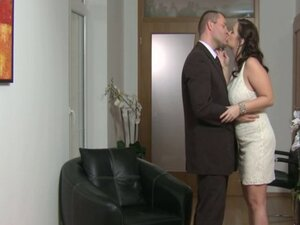 Milf-Amateur with Big Tits fucked in White Dress