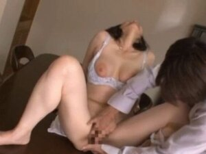 Lusty busty gal maya sawamura gets her tiny vag