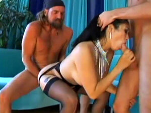 Mika Tan gets banged in all of her holes