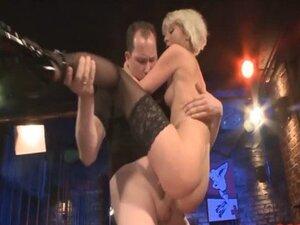 Dirty bukkake blondie gets shared between a group