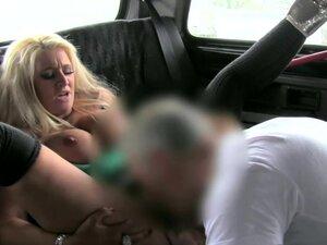 Euro slut blows cock in public for a free ride