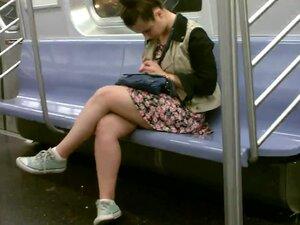 Nice Legs View, Admiring nice legs on the train