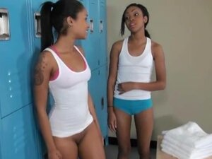 Gorgeous Black Girls Sucking Dick In Locker Room