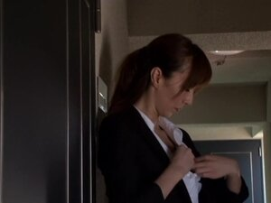 Homami Takasaka in Female Investigator Goes Anal