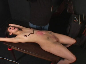 Small tits hottie bound & teased with wax by her