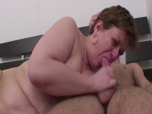 Fat Mama Anal Fucked In Young Boy's Room, Brunette