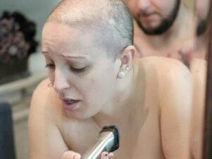 Slut Gets Fucked While Shaving Her Head