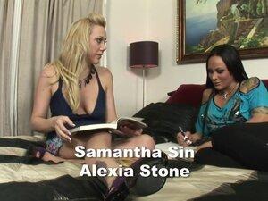 Fabulous pornstars Samantha Sin and Alexia Stone