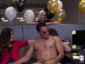 Party slut rides cock