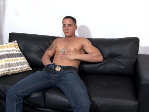 Young Horny Straight Army Muscle Guy Jerks Big