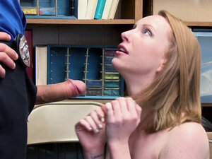 LP Officer fucking Katy Kiss in reverse cowgirl