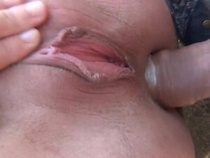 Anna is sucking a hard dick in the forest