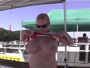 hot girls earning beads by flashing tits and