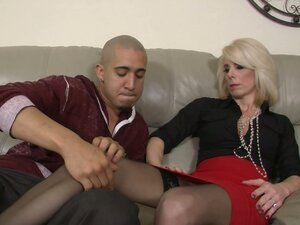 Slutty blond housewife Jodie Stacks is ready for a