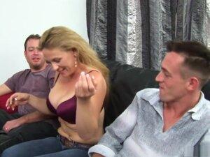Exotic pornstar in amazing threesome, spanking