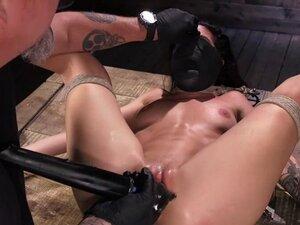 Suspended Kissa Sins pussy fucked