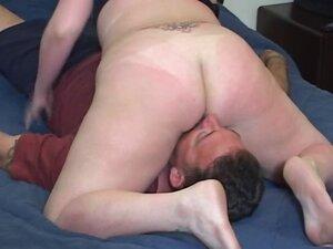Mistress demands a horny man to get her ass hole